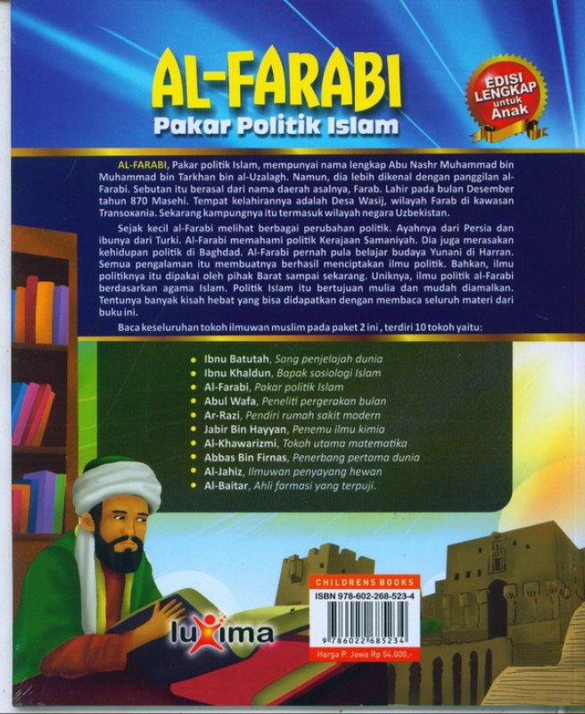 Cover Belakang Buku AL-FARABI : pakar politik islam