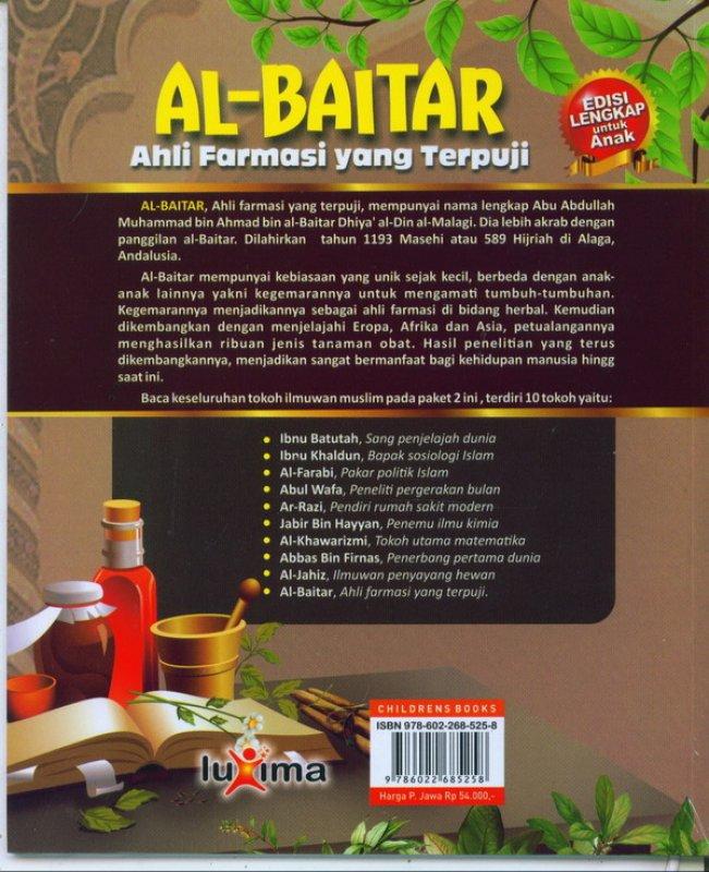 Cover Belakang Buku AL-BAITAR : ahli farmasi yang terpuji