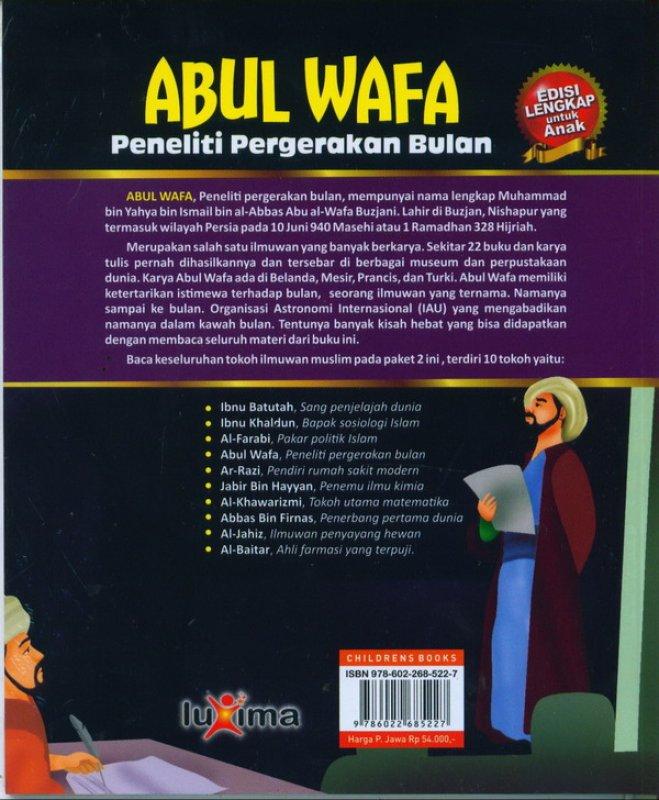 Cover Belakang Buku ABUL WAFA: peneliti pergerakan bulan