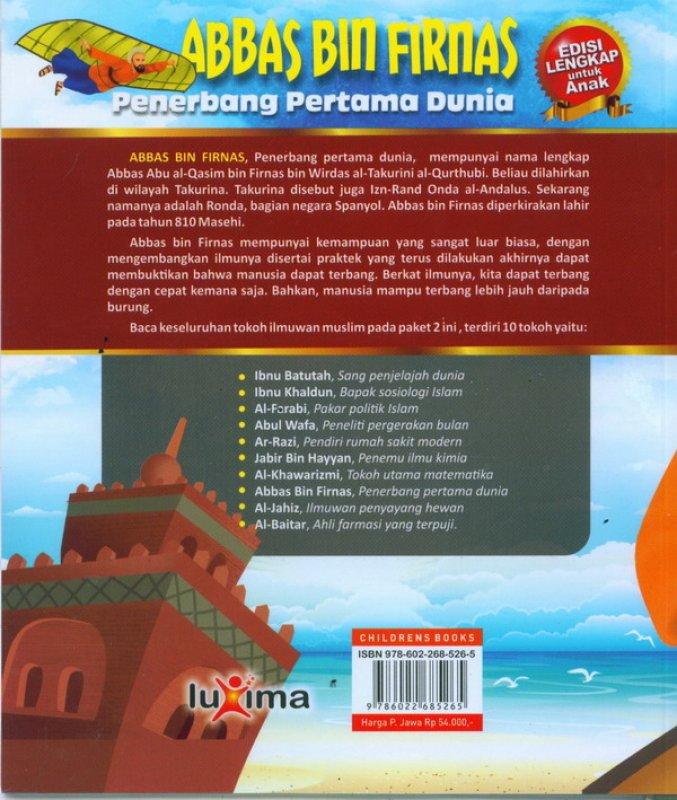 Cover Belakang Buku ABBAS BIN FIRNAS