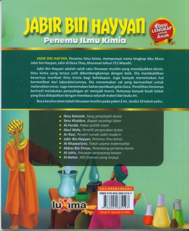 Cover Belakang Buku JABIR BIN HAYYAN