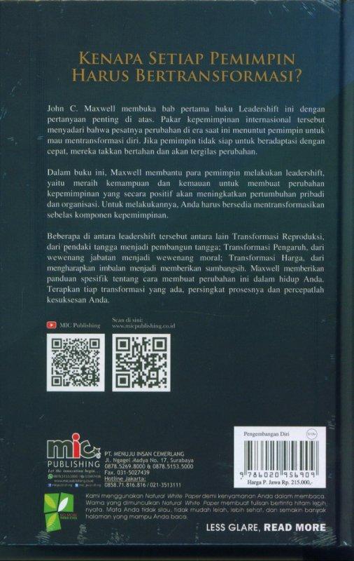Cover Belakang Buku LEADER SHIFT