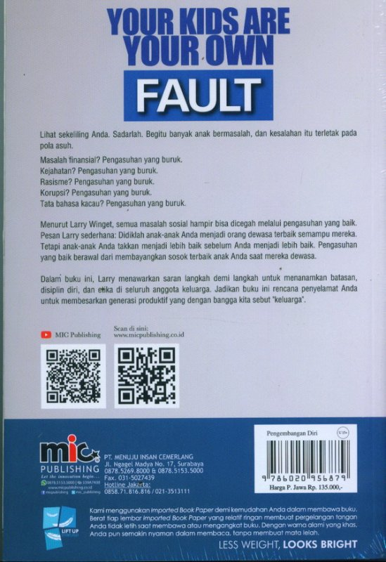 Cover Belakang Buku Your Kids Are Your Own Fault