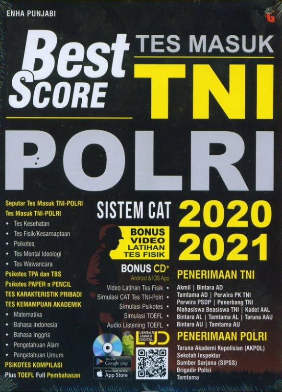 Cover Buku Best Score Tes Masuk TNI PORLI Sistem Cat 2020-2021