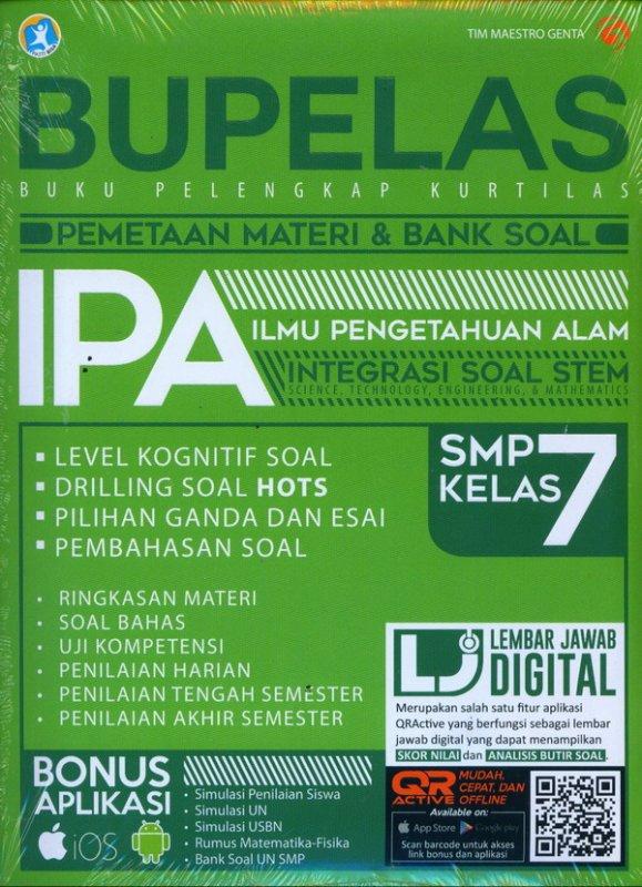 Cover Buku BUPELAS PEMETAAN MATERI & BANK SOAL IPA SMP KELAS 7