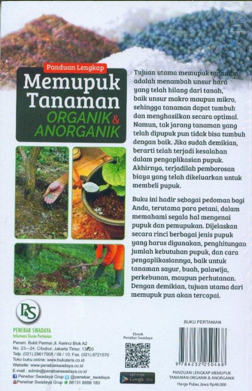 Cover Belakang Buku Panduan Lengkap Memupuk Tanaman Organik & Anorganik