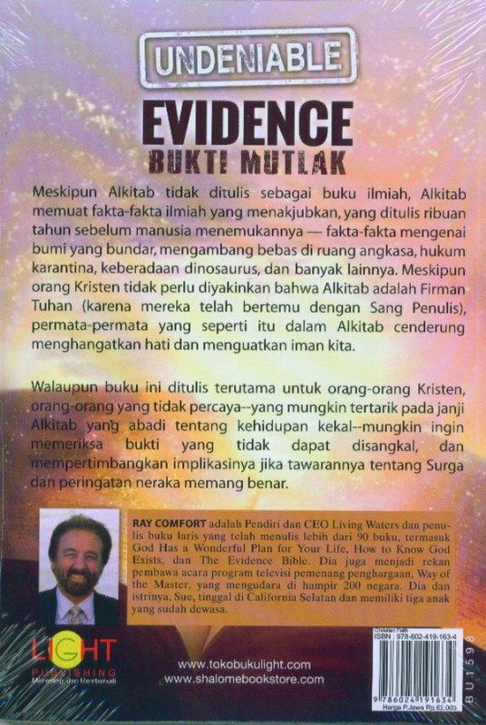 Cover Belakang Buku EVIDENCE Buku Mutlak