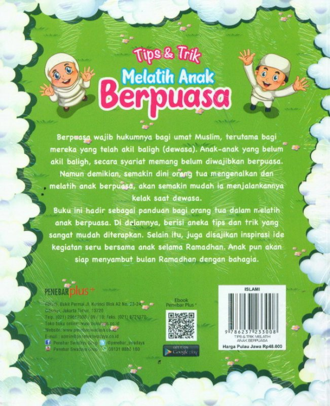 Cover Belakang Buku Tips & Trik Melatih Anak Berpuasa