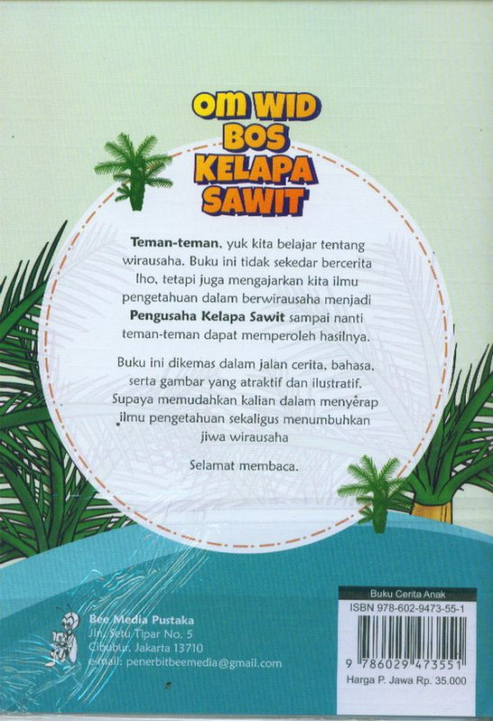 Cover Belakang Buku Om Wid Bos Kelapa Sawit