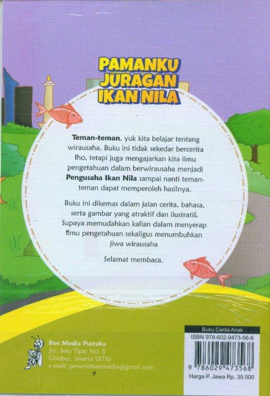 Cover Belakang Buku Pamanku Juragan Ikan Nila