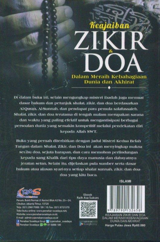 Cover Belakang Buku Keajaiban ZIKIR & DOA Dalam Meraih Kebahagiaan Dunia dan Akhirat