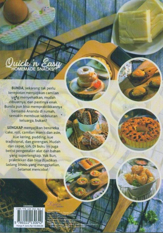 Cover Belakang Buku Quick In Easy Homemade Snacks