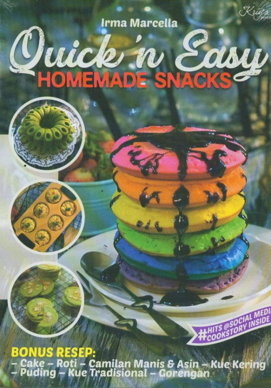 Cover Buku Quick In Easy Homemade Snacks