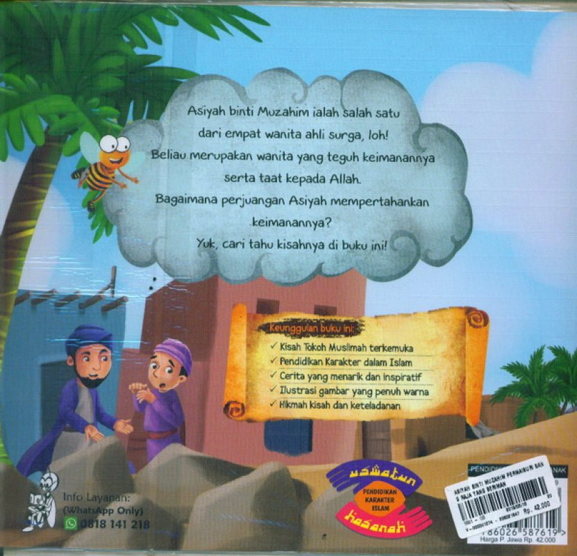 Cover Belakang Buku Asiyah Binti Muzahim