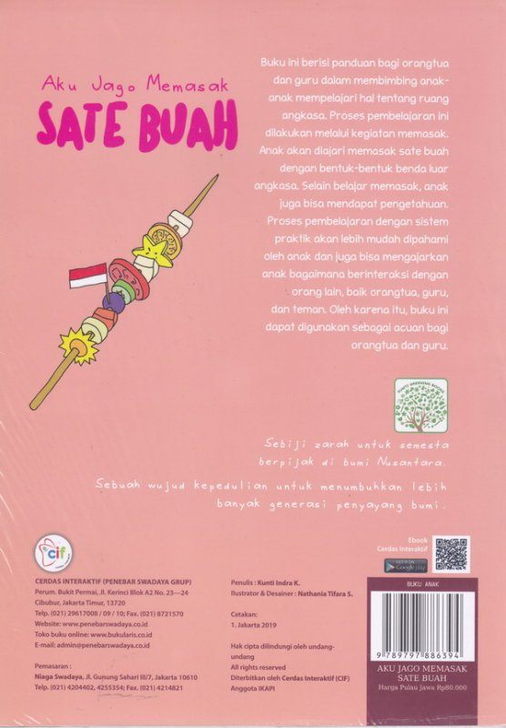 Cover Belakang Buku Aku Jago Memasak Sate Buah