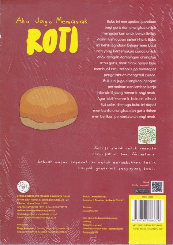 Cover Belakang Buku Aku Jago Memasak Roti