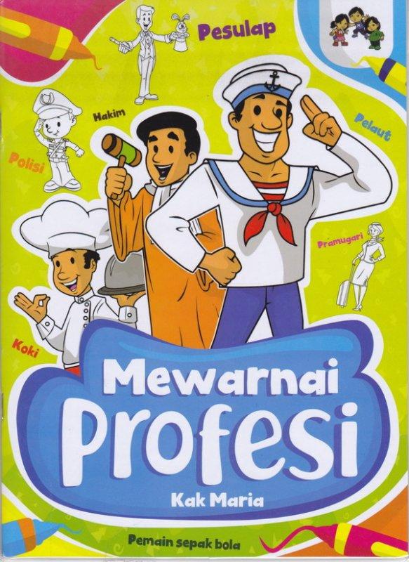 Cover Buku Mewarnai Profesi