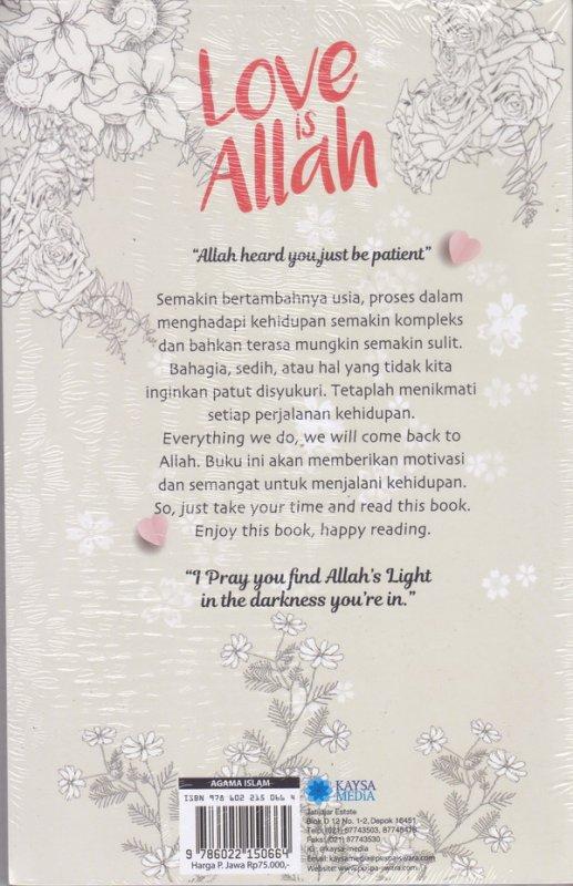 Cover Belakang Buku Love Is Allah