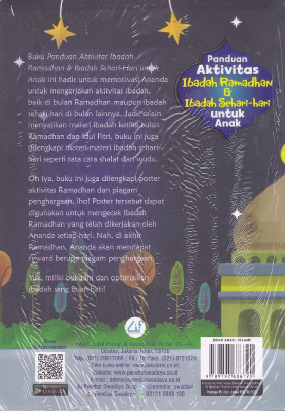 Cover Belakang Buku Panduan Aktivitas Ibadah Ramadhan & Ibadah Sehari-hari Untuk Anak