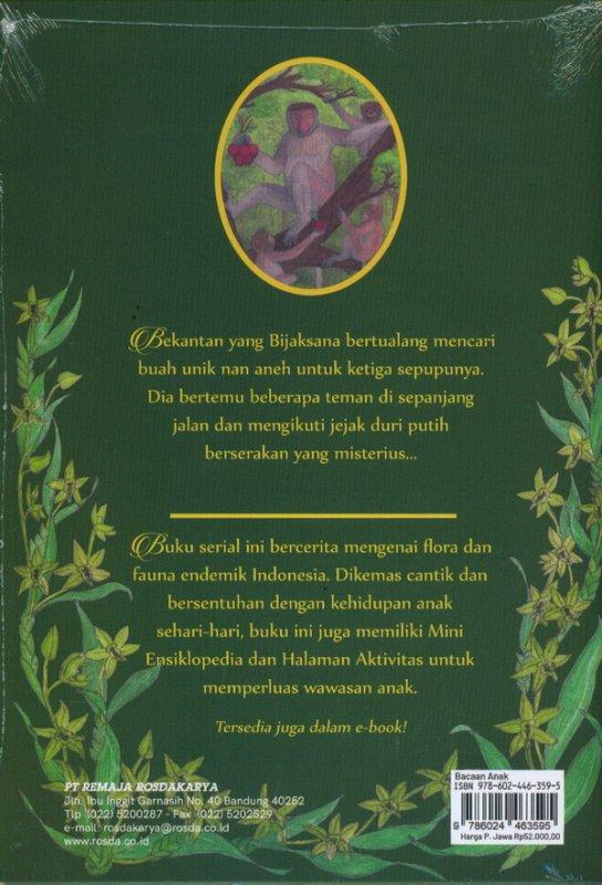 Cover Belakang Buku Bekantan Yang Bijaksana