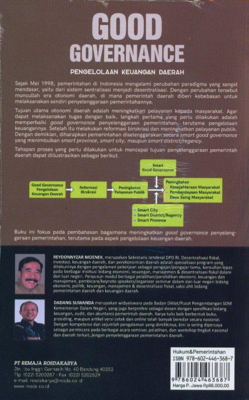 Cover Belakang Buku GOOD GOVERNANCE (pengelolaan keuangan daerah)