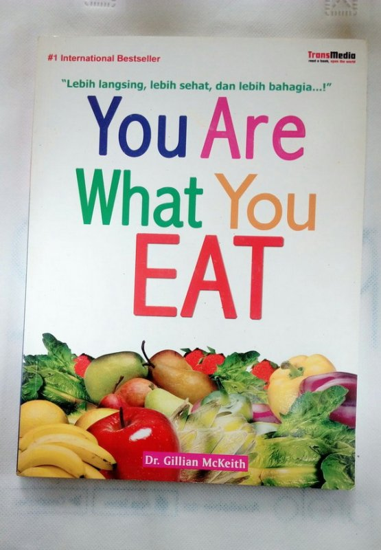 Cover Depan Buku You Are What You Eat