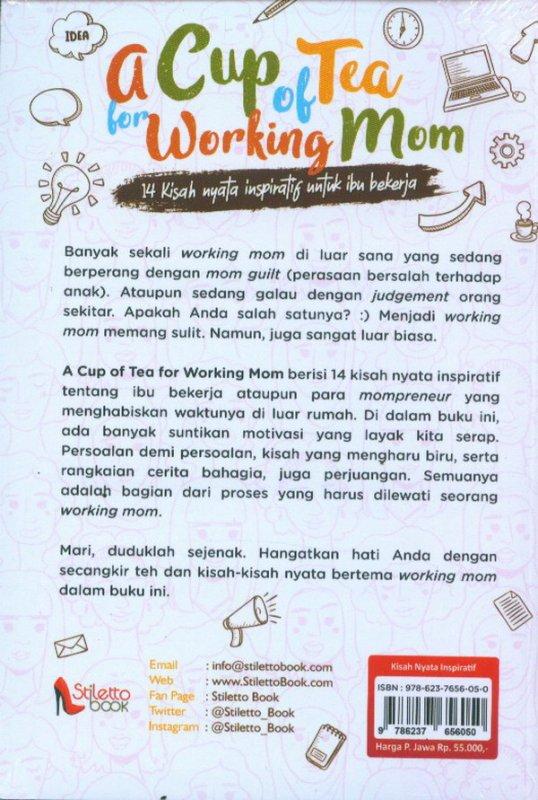 Cover Belakang Buku A Cup of Tea For Working Mom