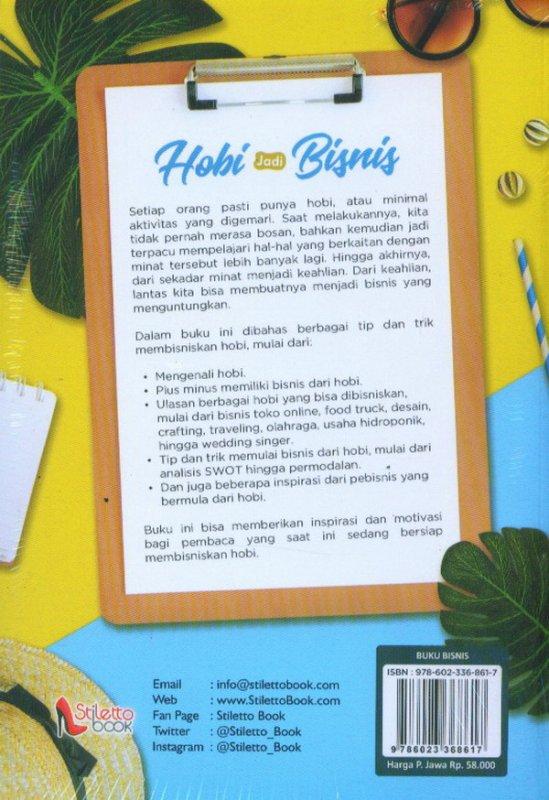 Cover Belakang Buku Hobi Jadi Bisnis