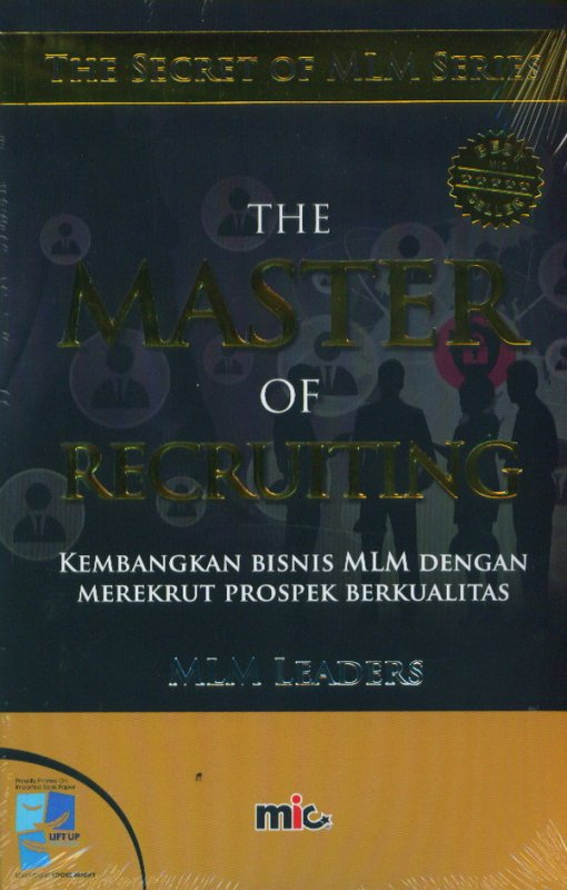 Cover Depan Buku The Master Of Recruiting