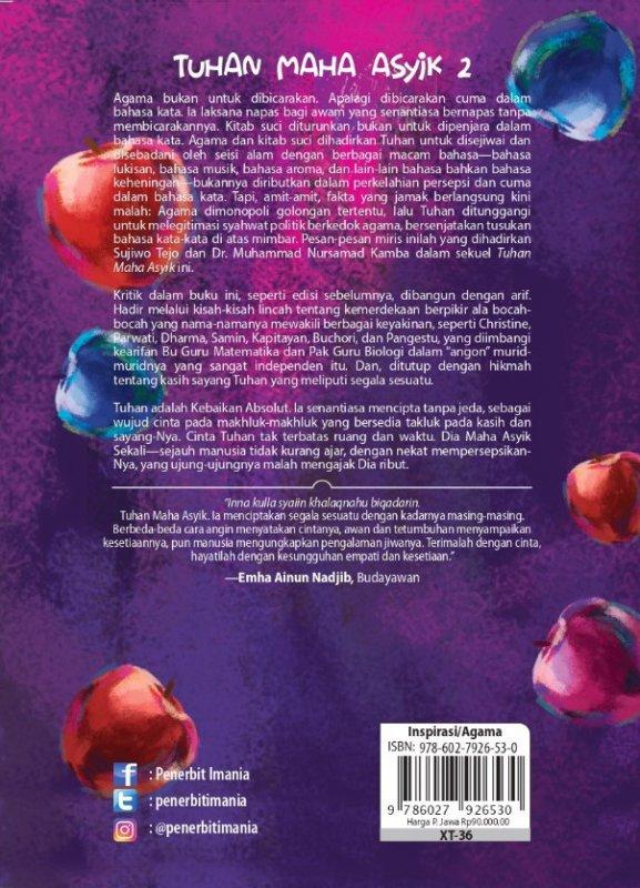 Cover Belakang Buku Tuhan Maha Asyik 2