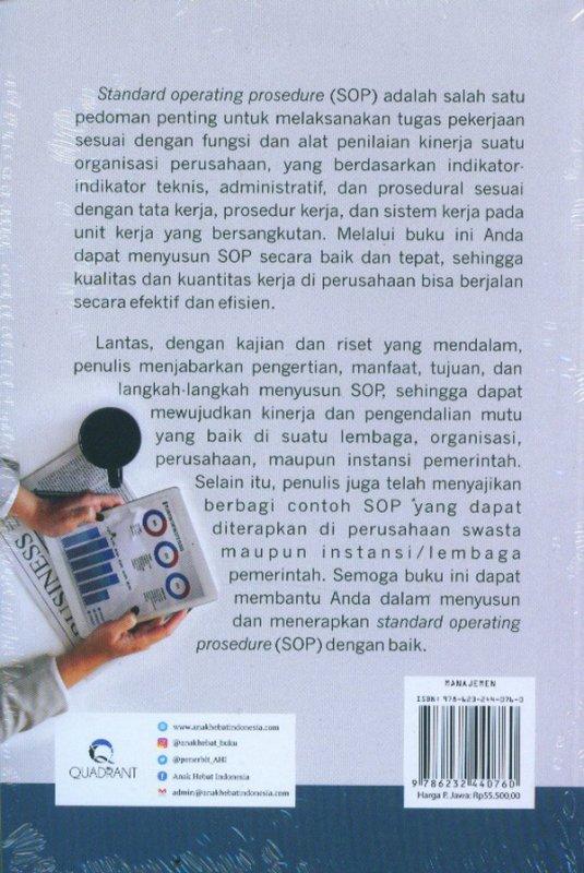 Cover Belakang Buku Panduan Mudah Menyusun SOP