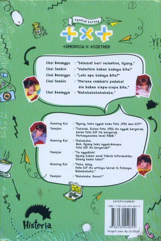 Cover Belakang Buku Ngakak Bareng +x+ +omorrow x +ogether