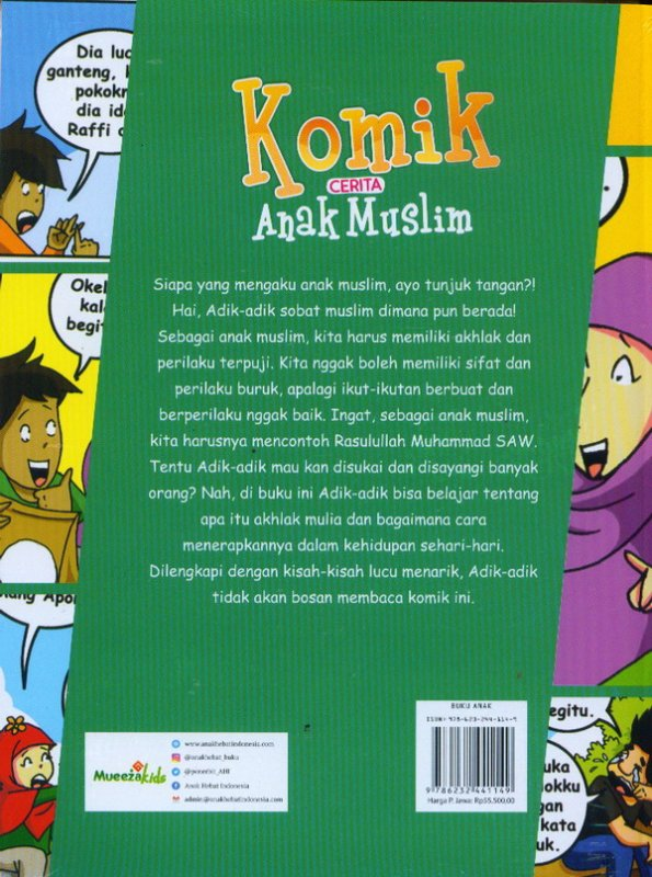 Cover Belakang Buku Komik Cerita Anak MusliM
