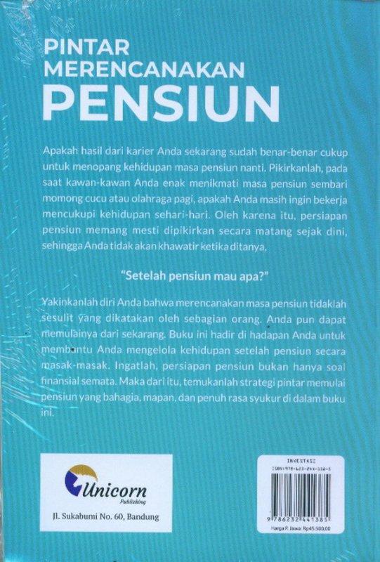 Cover Belakang Buku Pintar Merencanakan Pensiun