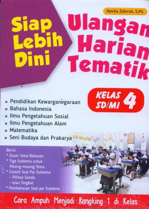 Cover Buku Siap Lebih Dini: Ulangan Harian Tematik Kelas 4 SD/MI