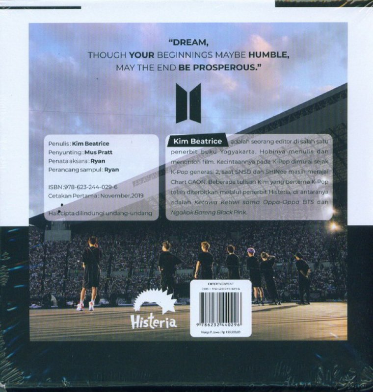 Cover Belakang Buku Unboxing: Unofficial BTS Pictorial Books