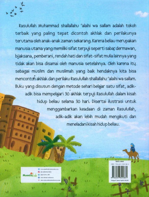 Cover Belakang Buku Kisah Budi Pekerti Rasulullah Meneladani Ahklak Terpuji Rasulullah