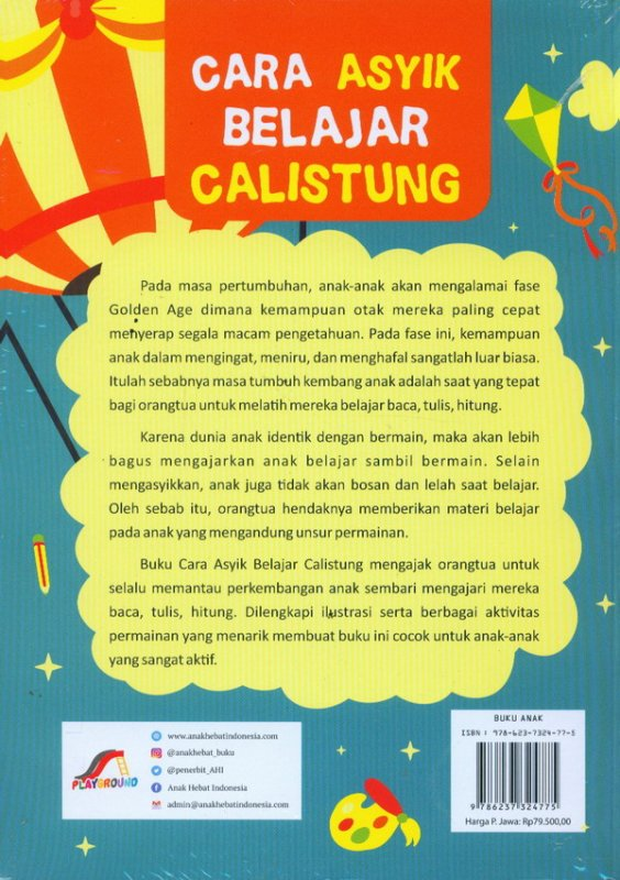 Cover Belakang Buku Cara Asyik Belajar Calistung
