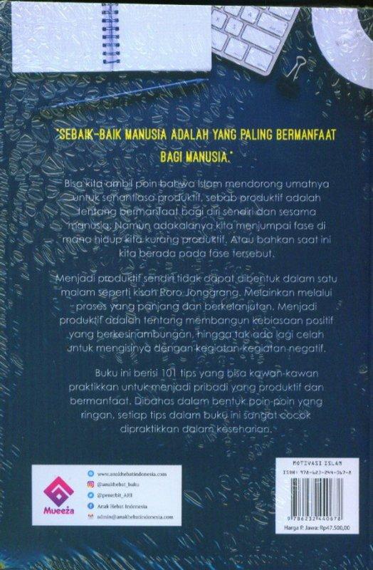 Cover Belakang Buku 101 Cara Menjadi Muslim Produktif dan Juara