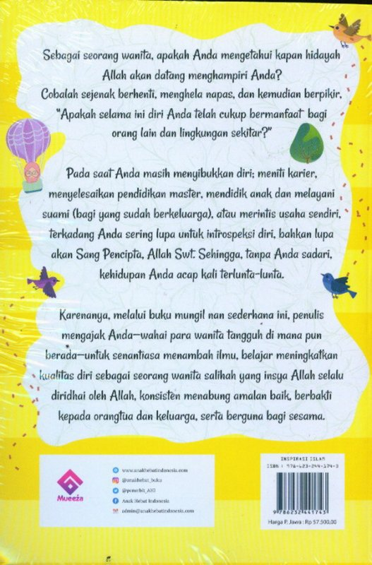 Cover Belakang Buku Let's Hijrah and then Salihah: Karena Hijrah Bukan Sekedar Tren Berhijab Mewah