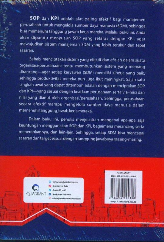 Cover Belakang Buku Panduan Lengkap Menyusun SOP & KPI