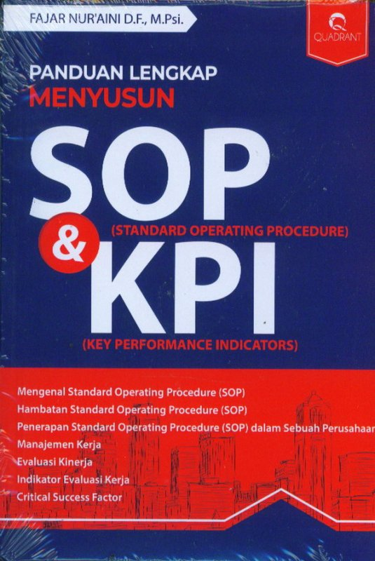 Cover Buku Panduan Lengkap Menyusun SOP & KPI