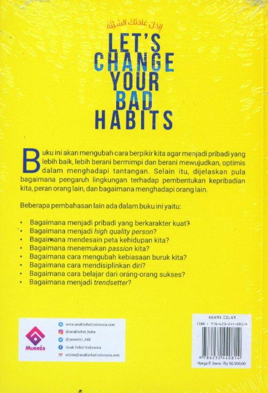 Cover Belakang Buku Let's Change Your Bad Habits