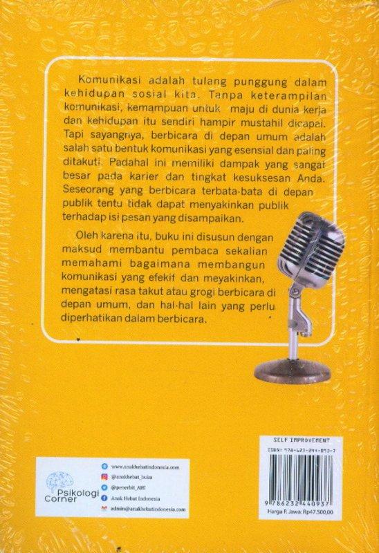 Cover Belakang Buku 101 Trik Berbicara: Mengupas Strategi Dahsyat
