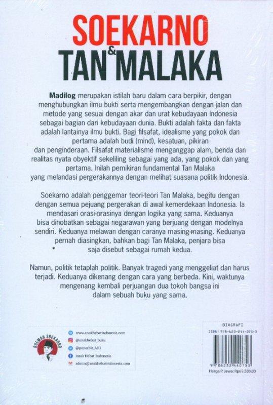 Cover Belakang Buku Soekarno & Tan Malaka: Negarawan Sejati Yang Pernah Diasingkan