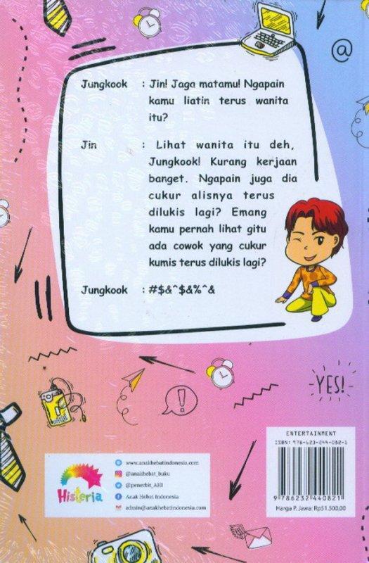 Cover Belakang Buku BTS Lost In Humor