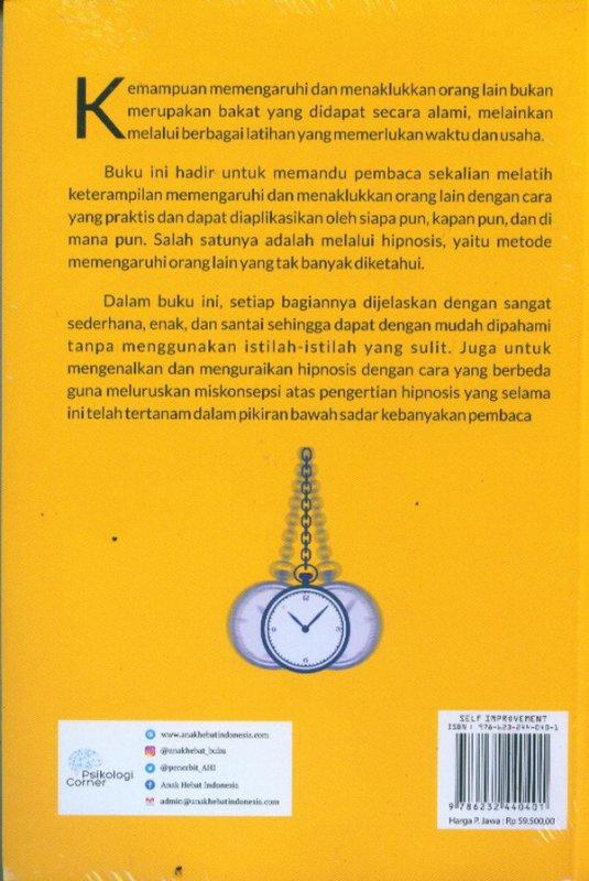Cover Belakang Buku Hipnosis: Seni Memengaruhi dan Menaklukan Orang Lain