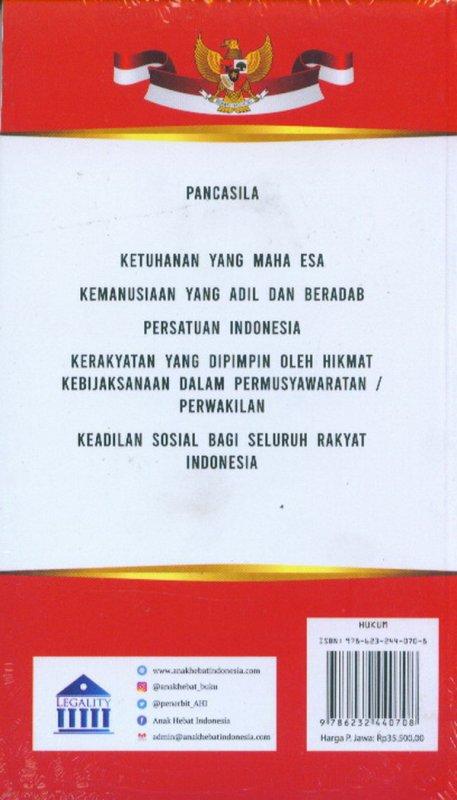 Cover Belakang Buku Amandemen UUD 1945 Perubahan I-IV Dan Pengetahuan Umum