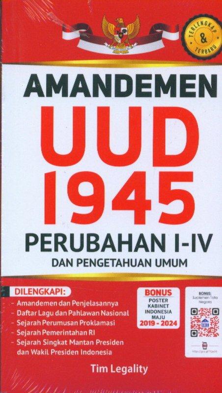 Cover Buku Amandemen UUD 1945 Perubahan I-IV Dan Pengetahuan Umum