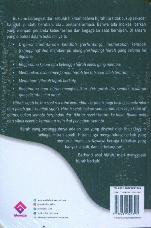 Cover Belakang Buku Hijrah Berkah For Muslimah Milenial